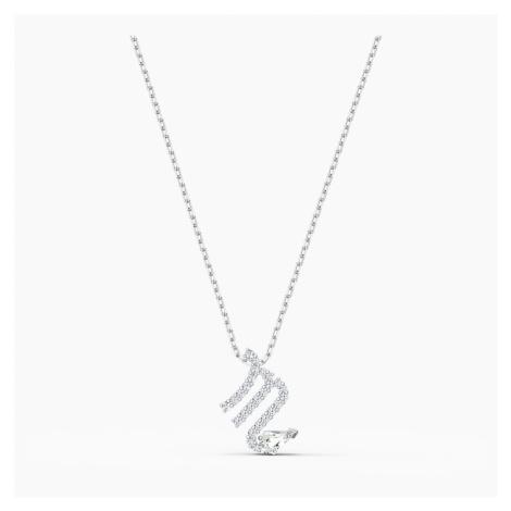 Wisiorek Zodiac II, Skorpion, biały, różnobarwne metale Swarovski