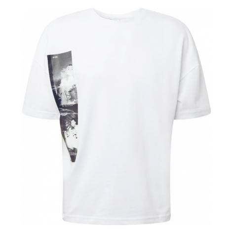 NU-IN Koszulka 'Glitch' biały / szary