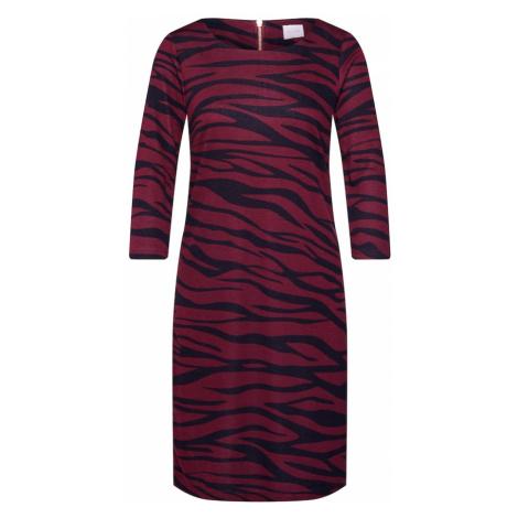 VILA Sukienka 'Vitinny' czerwone wino / czarny