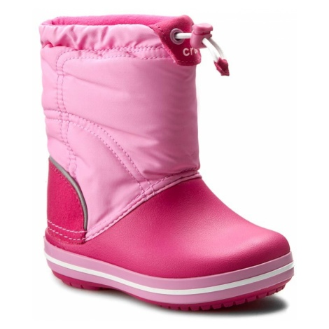 Śniegowce CROCS - Crocband Lodgepoint Boot K 203509 Candy Pink/Party Pink