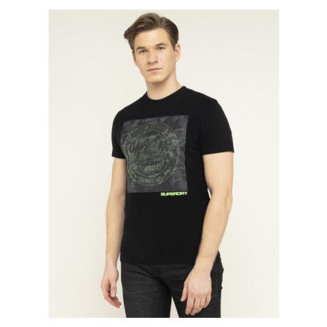 Superdry T-Shirt Ticket Type 3D Camo Tee M1000097A Czarny Regular Fit