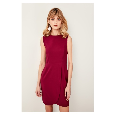 Trendyol Plum Skirt Detailed Dress