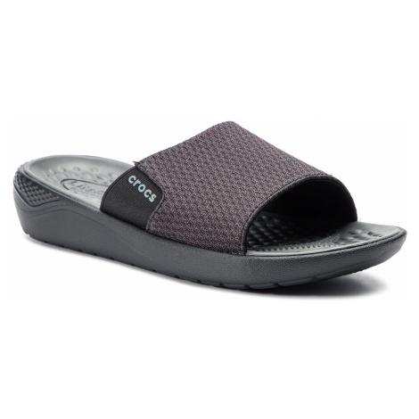 Klapki CROCS - Literide Mesh Slide M 205611 Black/State Grey