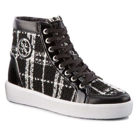 Sneakersy GUESS - FLACE3 FAB12 WHITE/BLACK