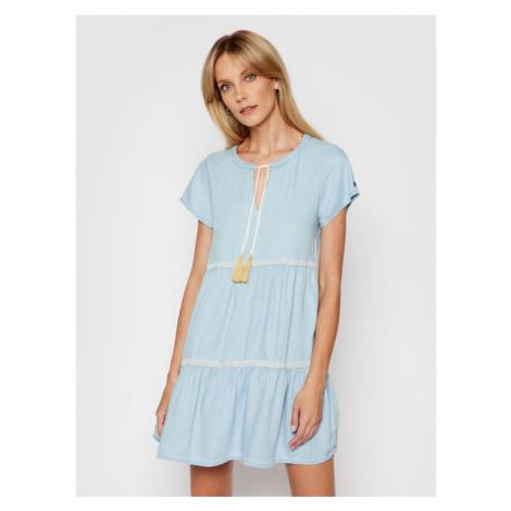 Femi Stories Sukienka codzienna Kina Niebieski Regular Fit