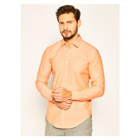 Boss Koszula Rikki_53 50426738 Pomarańczowy Slim Fit Hugo Boss