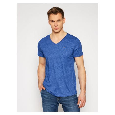Tommy Jeans T-Shirt Jaspe DM0DM09587 Niebieski Slim Fit Tommy Hilfiger