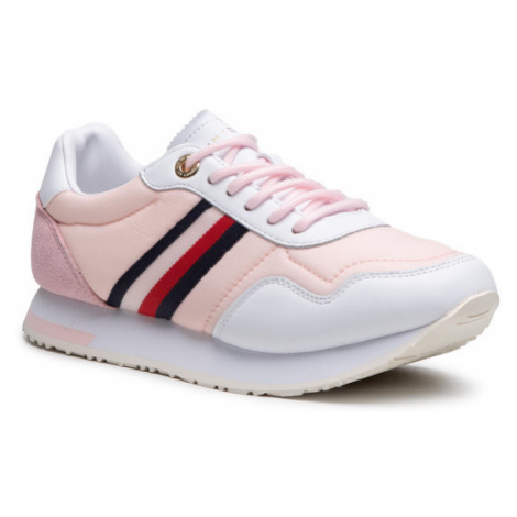 Tommy Hilfiger Sneakersy Casual City Runner FW0FW05560 Różowy