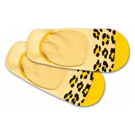 DillySocks Skarpetki stopki 'Hidden Leo' żółty / czarny