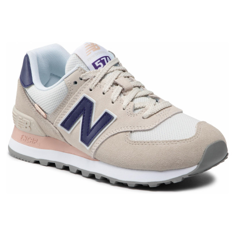 Sneakersy NEW BALANCE - WL574SM2 Beżowy