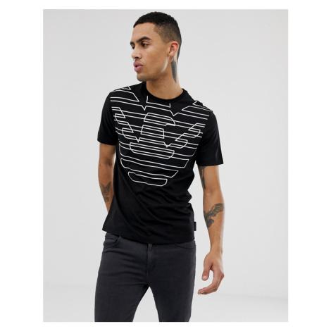 Emporio Armani eagle print logo t-shirt in black