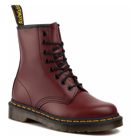 Glany DR. MARTENS - 1460 10072600 Cherry Red Smooth Dr Martens