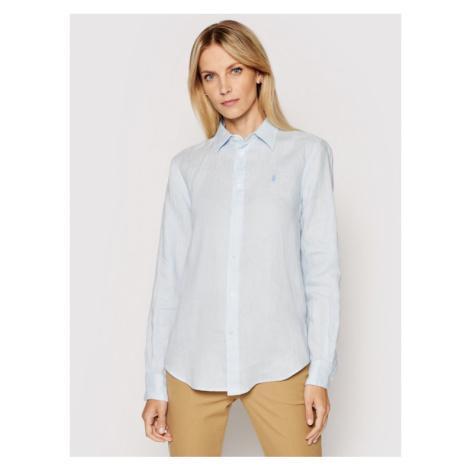 Polo Ralph Lauren Koszula Lsl 211827658007 Niebieski Relaxed Fit
