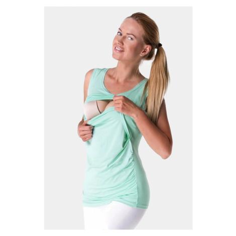 Zielone koszulki, podkoszulki i bluzki ciążowe