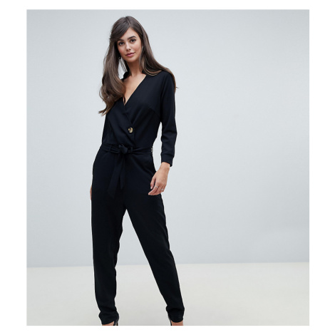 Y.A.S Tall Homi wrap front jumpsuit