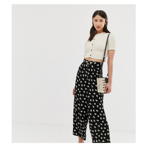 Vero Moda Tall floral wide leg cropped trouser