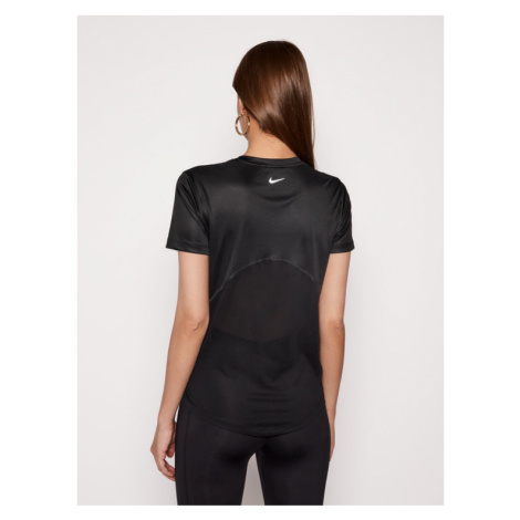 Nike Koszulka techniczna Miler AJ8121 Czarny Regular Fit