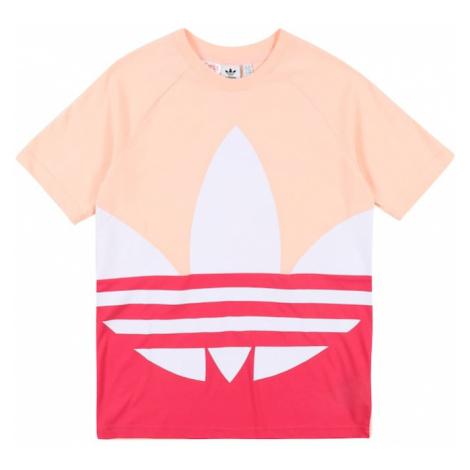 ADIDAS ORIGINALS Koszulka 'Trefoil' biały / pastelowy róż / różowy