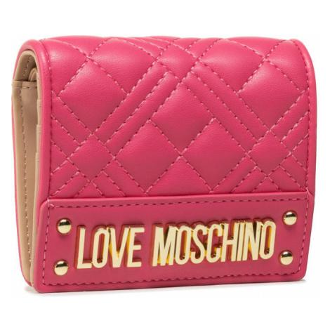 LOVE MOSCHINO Mały Portfel Damski JC5601PP1CLA0604 Różowy