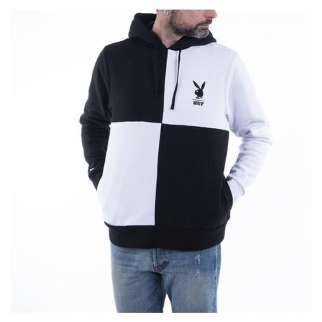 Bluza męska HUF x Playboy Color Block Pullover Hoodie FL00150 BLACK