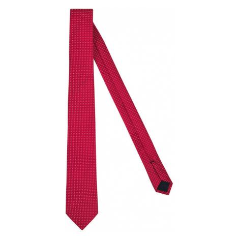 Tommy Hilfiger Tailored Krawat Blend Dot TT0TT07364 Czerwony