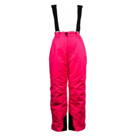 ALPINE PRO FUDO 2 różowy 128-134 - Spodnie narciarskie dziecięce