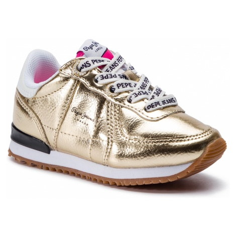 Sneakersy PEPE JEANS - Sydney Mirror Kids PGS30399 Gold 099