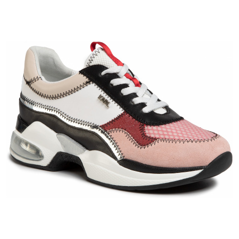 Sneakersy KARL LAGERFELD - KL61728 Pink Mix Textile