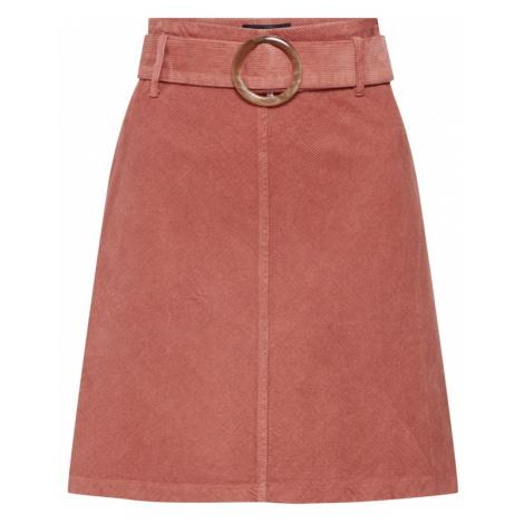 NEW LOOK Spódnica 'BUCKLE CORD SKIRT' różowy pudrowy