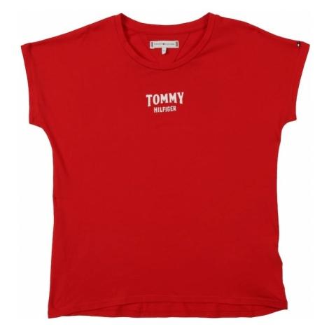 TOMMY HILFIGER Koszulka 'SMALL LOGO' czerwony