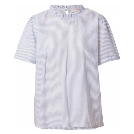 Cream Bluzka 'Katinka' biały / jasnoniebieski