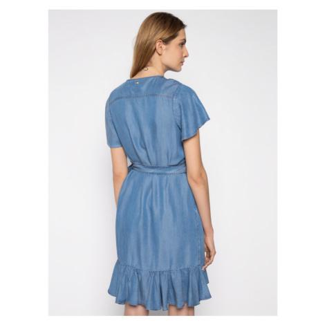 My Twin Sukienka jeansowa 201MT2193 Niebieski Fitted Fit