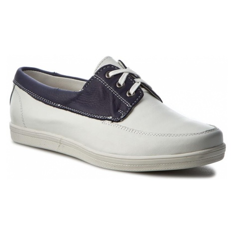 Półbuty POLLONUS - 5901 Biały Granat