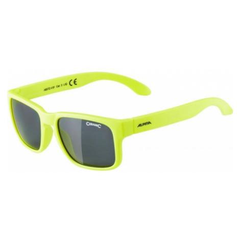 Alpina Sports MITZO żółty NS - Okulary przeciwsłoneczne chłopięce