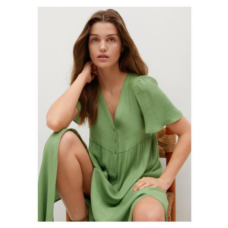 Mango Sukienka codzienna Sugar 87007153 Zielony Regular Fit