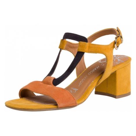 MARCO TOZZI Sandały z rzemykami ciemnopomarańczowy / niebieska noc / żółty
