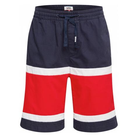 Tommy Jeans Spodnie granatowy / biały / czerwony Tommy Hilfiger