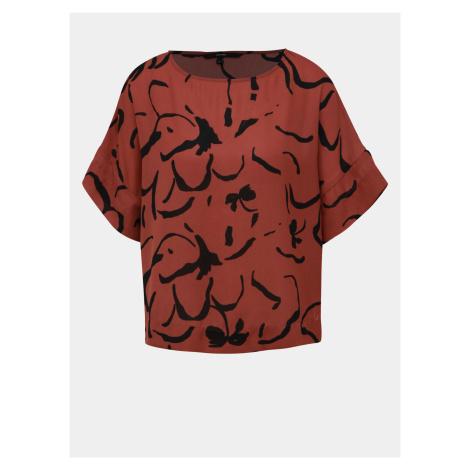Brązowa wzorzysta bluzka VERO MODA Ilona