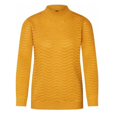 Y.A.S Sweter 'YASBRENTRICE KNIT PULLOVER' złoty żółty