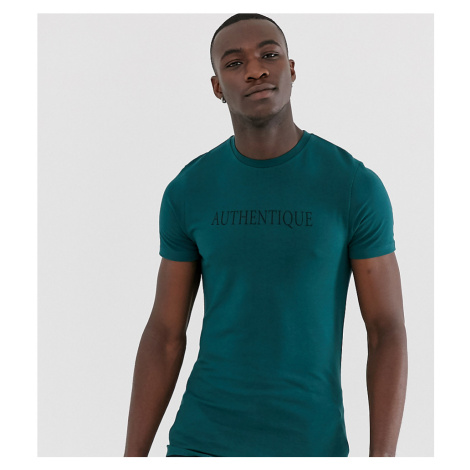 ASOS DESIGN Tall skinny t-shirt with Authentique chest print