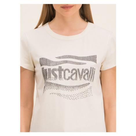 Just Cavalli T-Shirt S04GC0333 Biały Slim Fit