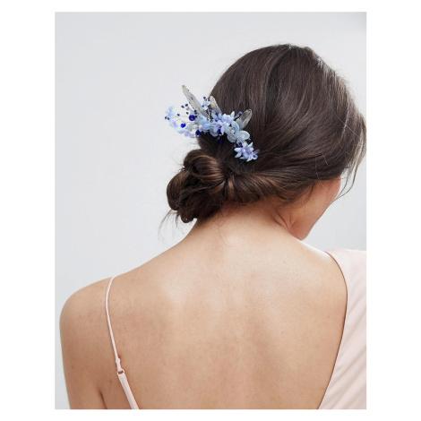 ASOS DESIGN Metal Leaf Jewel And Pearl Floral Hair Clip