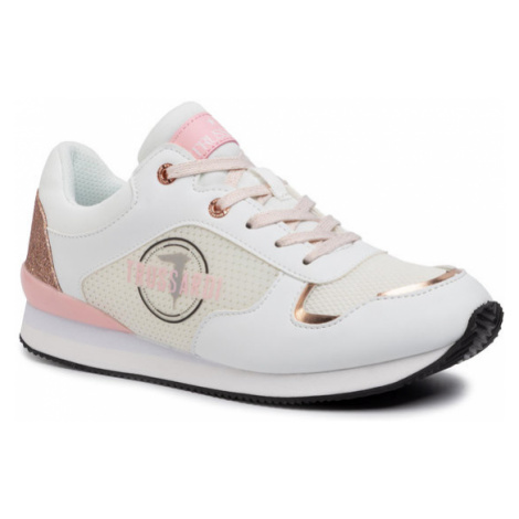 Trussardi Jeans Sneakersy 79A00496 Biały