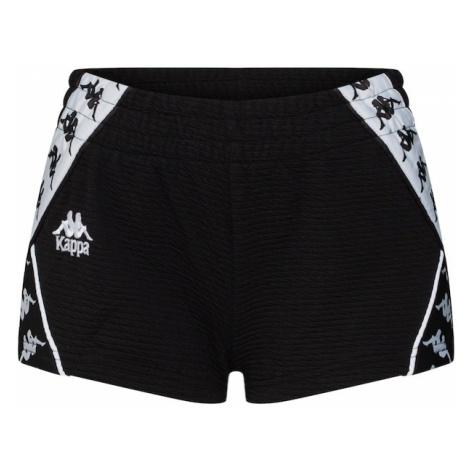 KAPPA Spodnie 'BOULA' czarny / biały