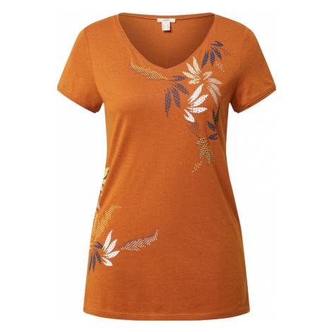 ESPRIT Koszulka 'Leaf' rdzawobrązowy