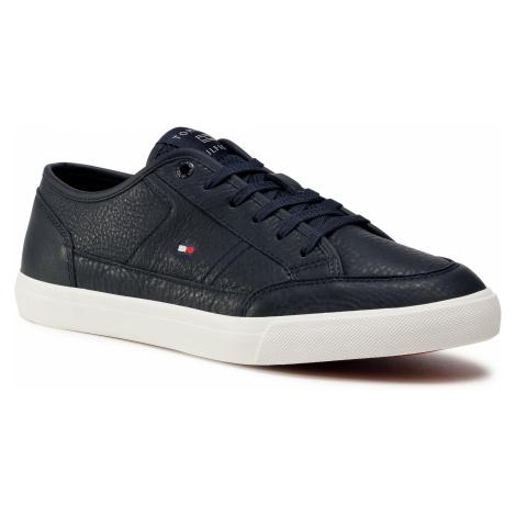 Sneakersy TOMMY HILFIGER - Core Corporate Leather Vulc FM0FM02980 Desert Sky DW5