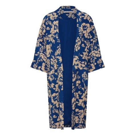 RUE De FEMME Kimono 'Greacia' beżowy / ciemny niebieski