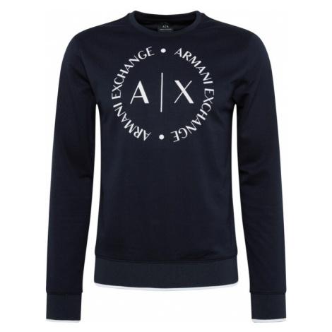 ARMANI EXCHANGE Bluzka sportowa niebieska noc / offwhite