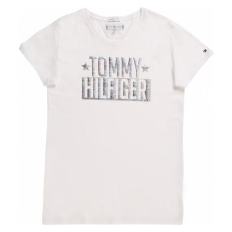 TOMMY HILFIGER Koszulka 'FOIL LOGO TEE S/S' biały