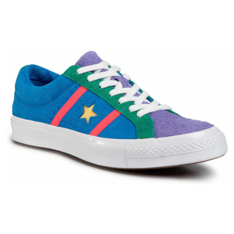 Tenisówki CONVERSE - One Star Academy Ox 164392C Totally Blue/Racer Pink/White